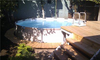 Декор каркасного бассейна