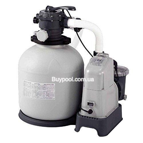 Фильтр насос песочный с хлоргенератором Intex 28680